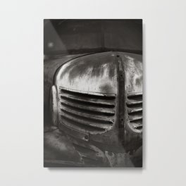 Old Chevrolet BW Metal Print
