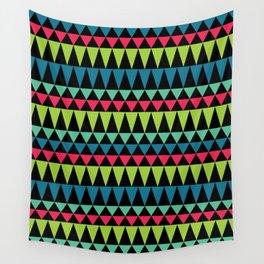 Neon Southwestern Pattern Wall Tapestry