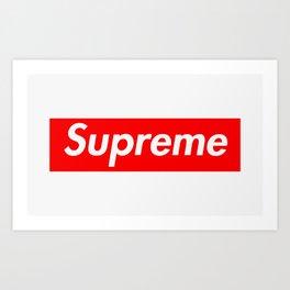Supreme Box Logo Art Print