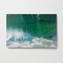 Clouds in the lake Metal Print
