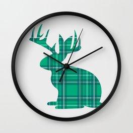 Lumberjackalope (Light Green) Wall Clock