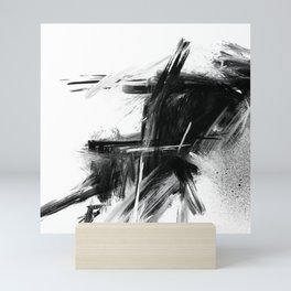 XA 006 - Abstract Monochrome Mini Art Print
