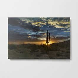 Southwest Style Sunset Skies Metal Print