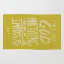 Luke 1: 37 x Mustard Rug
