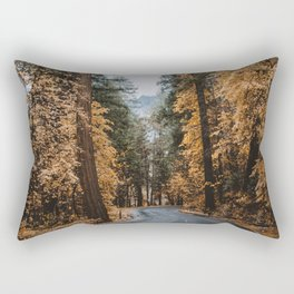 Fall Foliage in Yosemite Rectangular Pillow