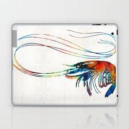 Colorful Shrimp Art by Sharon Cummings Laptop & iPad Skin