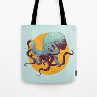 octopus Tote Bags featuring Octopus by Calavera