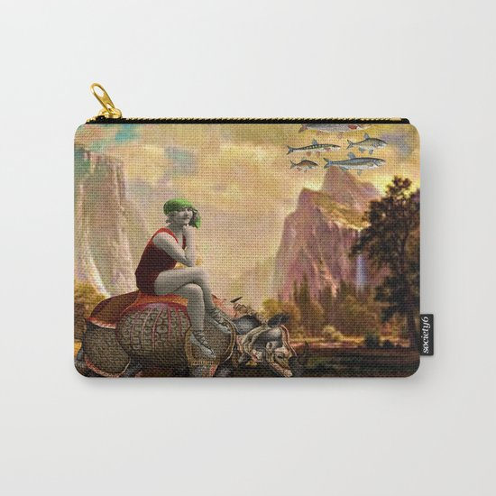 Lady and her Rhino Carry-All Pouch