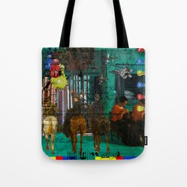 BLUE, YELLOW, RED, LICE II Tote Bag