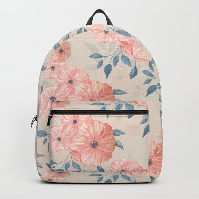 Seamless watercolor floral pattern Backpack