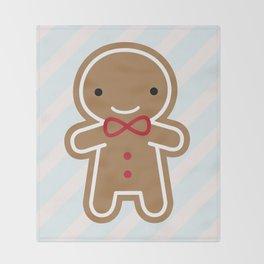 Cookie Cute Gingerbread Man Throw Blanket
