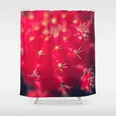 Ruby Ball Cactus Shower Curtain