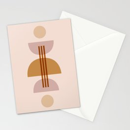 Amber Abstract Half Moon 1 Stationery Cards