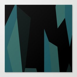 teal and black abstract Canvas Print