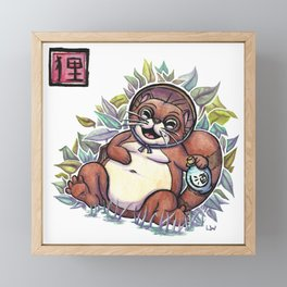 Legends - Tanuki Framed Mini Art Print