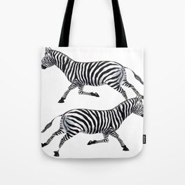 Zebras Pen and Ink tattoos by Lorloves Design Tote Bag