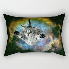 Galaxy Cat Universe Kitten Launch                                                 Rectangular Pillow