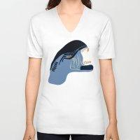 alien V-neck T-shirts featuring Alien by Jessica Slater Design & Illustration