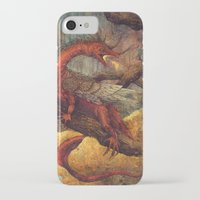 smaug iPhone & iPod Cases featuring Dragons Lair by Angela Rizza