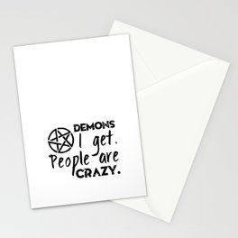 Demons I get Stationery Cards