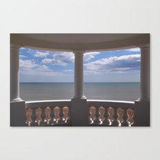 Sea View from a Small Pavilion Canvas Print