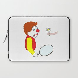 The Clown and the Flower Laptop Sleeve