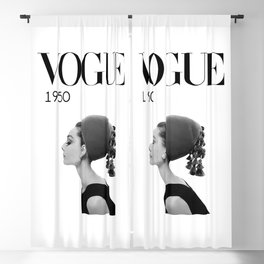 A digitally repainted  1950 Hepburn's Magazine cover Blackout Curtain
