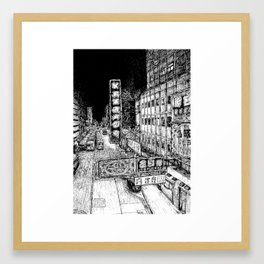 Mong Kok Nights (B&W) Framed Art Print
