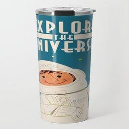 Vintage poster - Explore the Universe Travel Mug