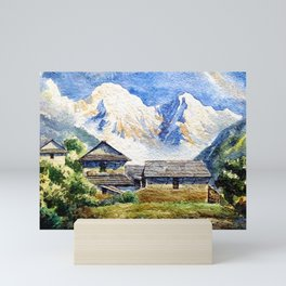 Old House By The Mountain Mini Art Print