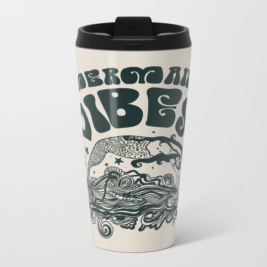 MERMAID VIBES Metal Travel Mug