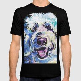 Golden Doodle Dog Portrait Pop Art painting by Lea T-shirt