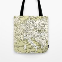 europe Tote Bags featuring 1938 Europe by inourgardentoo