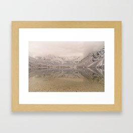 Lake Bohinj Reflection Framed Art Print