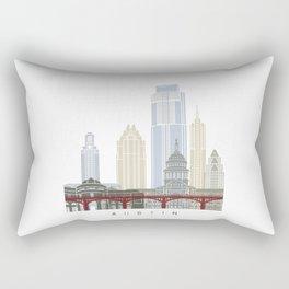 Austin skyline poster Rectangular Pillow