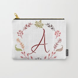 Floral A letter Carry-All Pouch