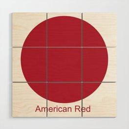 American Red Wood Wall Art