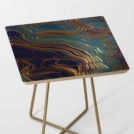 Peacock Ocean Side Table