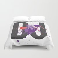 paramore Duvet Covers featuring Art DJ by Sitchko Igor