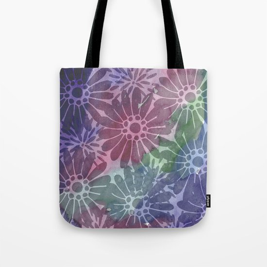 Abtract Summer Flowers I Tote Bag