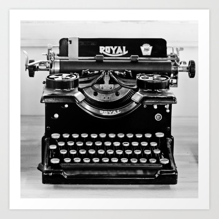 Vintage Typewriter Kunstdrucke