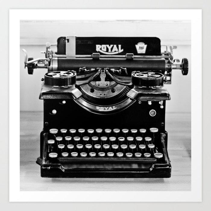Vintage Typewriter Art Print by legendsofdarkness