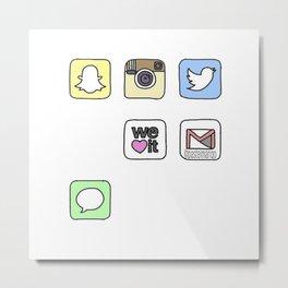 iPhone Icons Metal Print