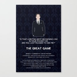 The Great Game - Jim Moriarty Canvas Print