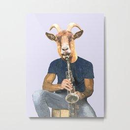 Goat Musician Metal Print