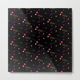 80s are The New Black - Pattern #0 Metal Print