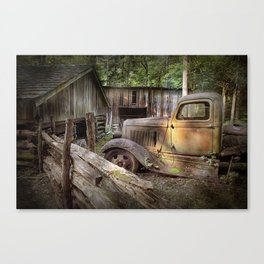 Old Farm Pickup Truck in the Smoky Mountains in Tennessee Canvas Print