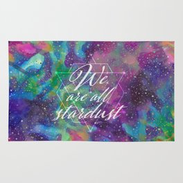 We Are All Stardust Watercolor Sacred Geometry Rug
