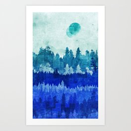 The Blue Forest Moon Kunstdrucke