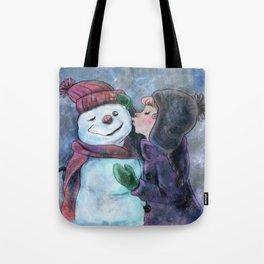 Kiss a snowman Tote Bag